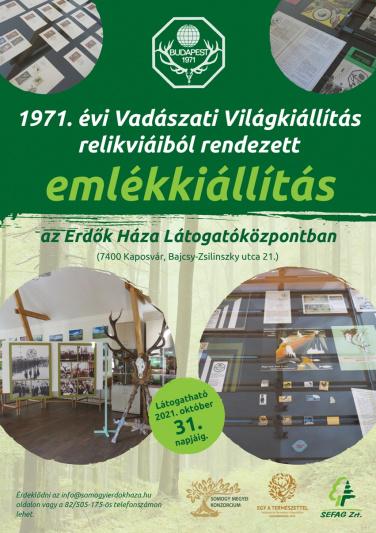 1971-es Vadászati Világkiállítás relikviái az Erdők Házában